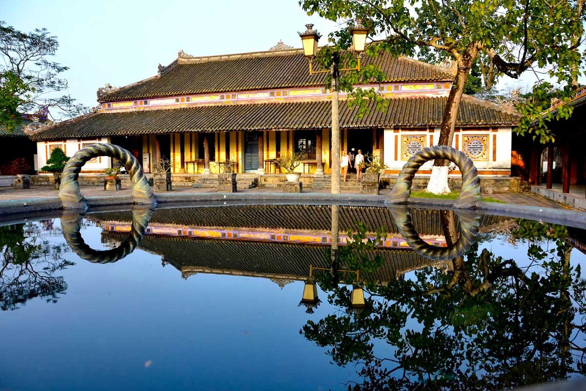 Visiting Hue Imperial city
