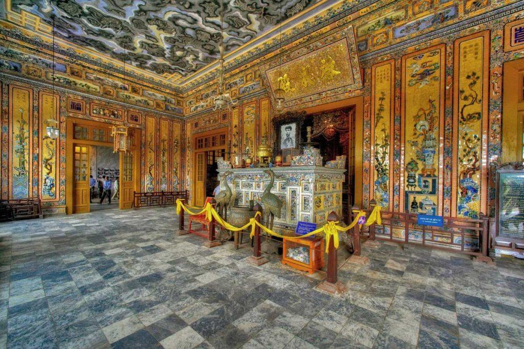 Khai Dinh tomb inside