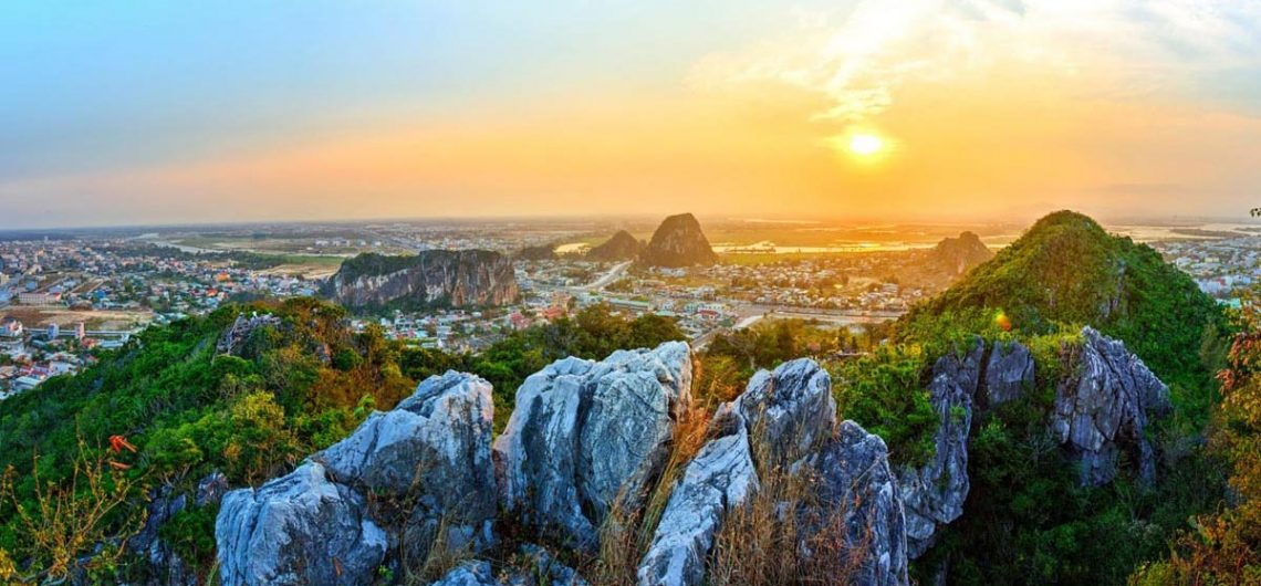Marble mountain in early morning da nang