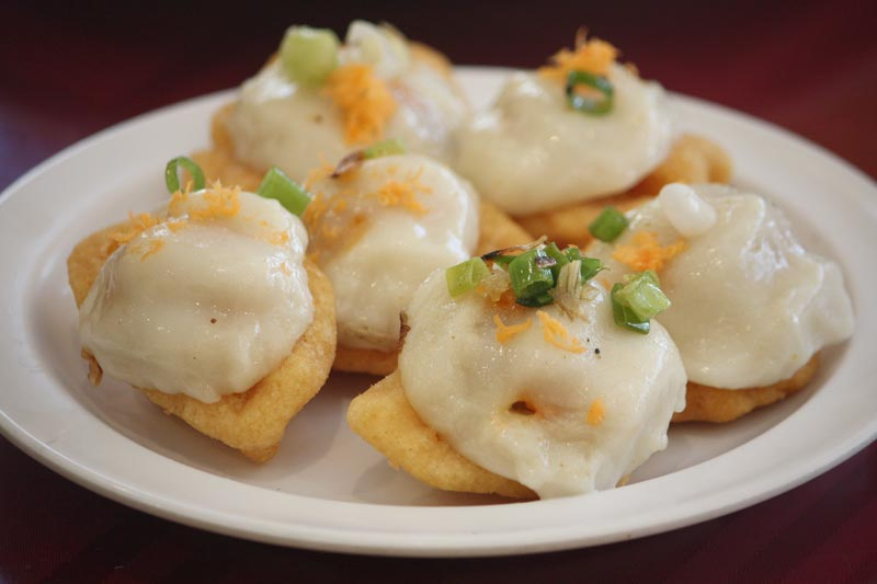 Banh It Ram - Fried Sticky Rice Dumplings - Hue special food