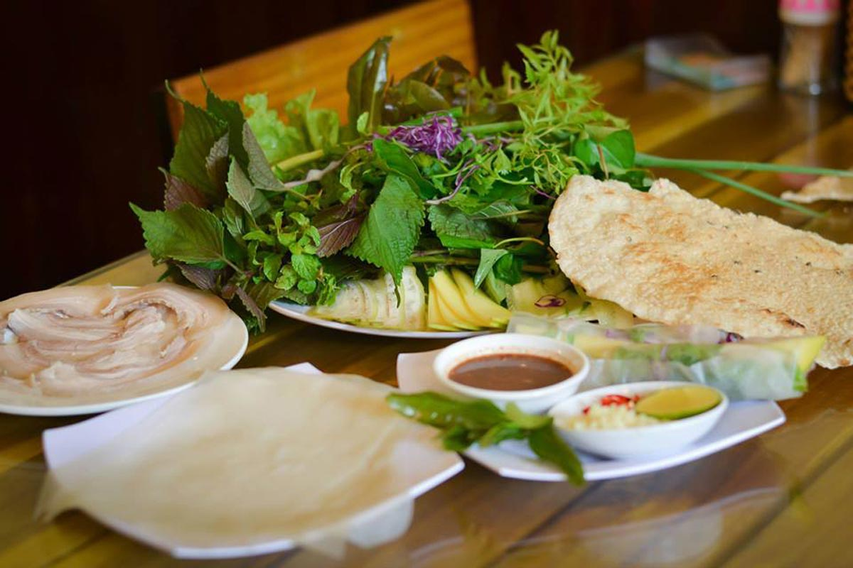 The pork rice paper roll – special dishes in Da Nang