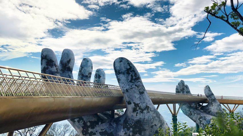 The Golden bridge on Bana Hills peak