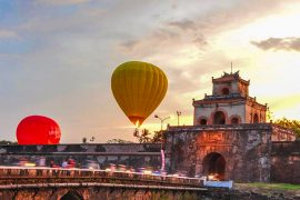 Hot air balloons ride vietnam